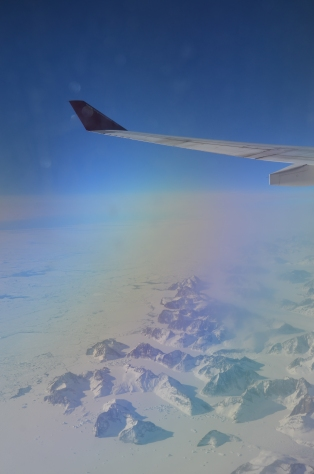 Fjords and nunataks in East Greenland
