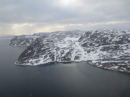 Glacially scoured bedrock near Aasiat