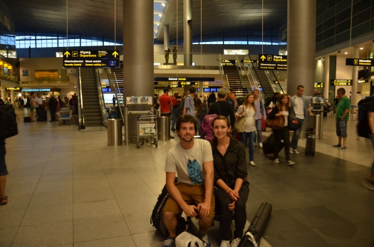 At Copenhagen Airport, ready to go!