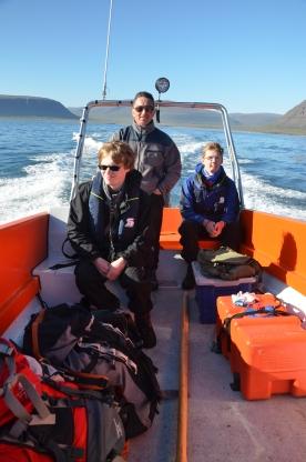 Mark, Akaar, and Joe enjoying the waves