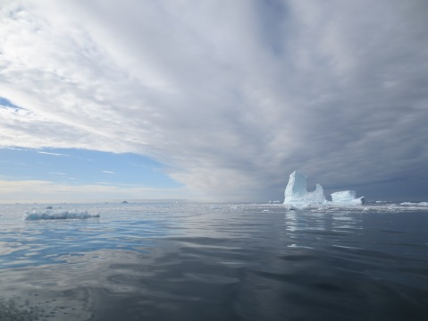 Icebergs on the commute - a better view than on the London Underground!