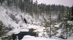 Kiutaköngäs rapids nearby the Oulanka Research Station in northeast Finland.