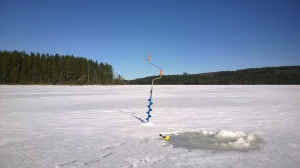 Great spring weather just before the Easter; getting ready for ice fishing!