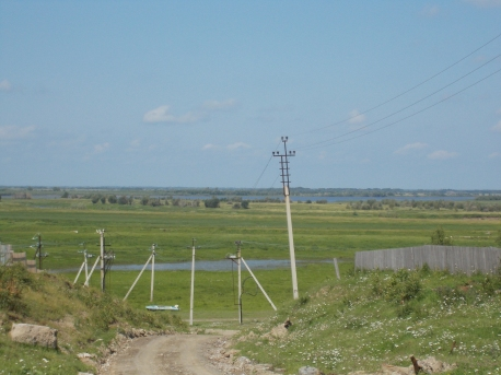 View of the River Ob from Shapsha village