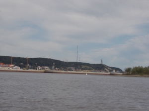 Khanty-Mansiysk from the speedboat
