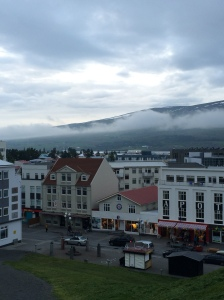 Akureyri the evening we arrived!