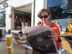 Kathryn enjoying Reykjavik!